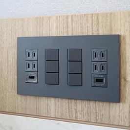 USBジャック付きコンセント完備